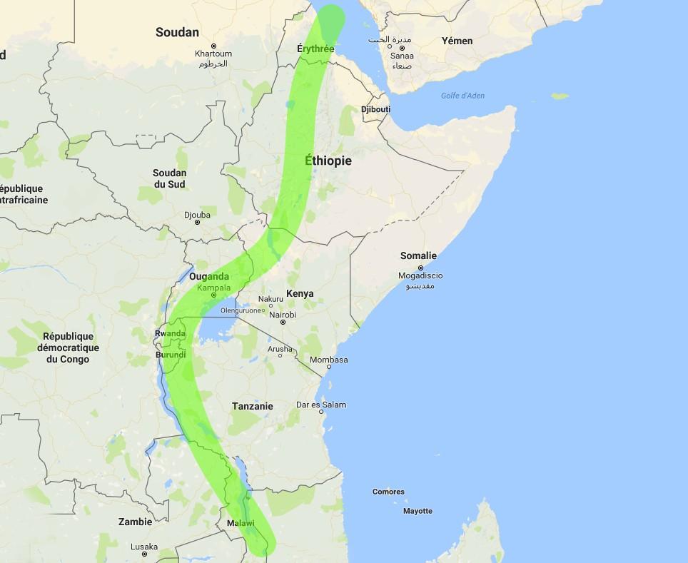 La vallée du grand rift africain