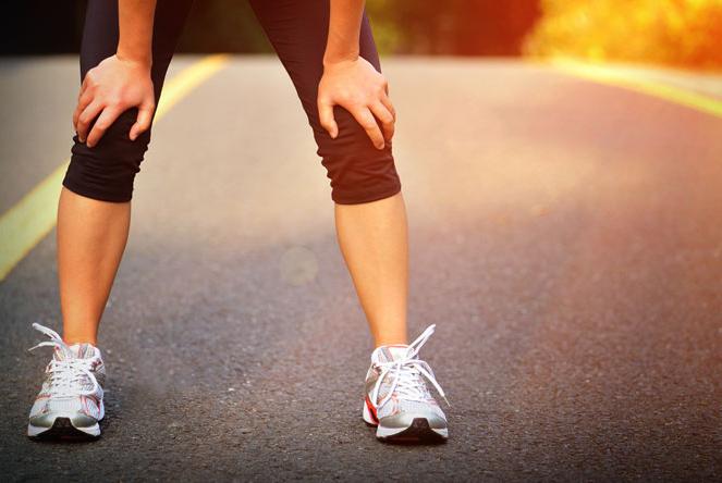 Running : athlète fatiguée