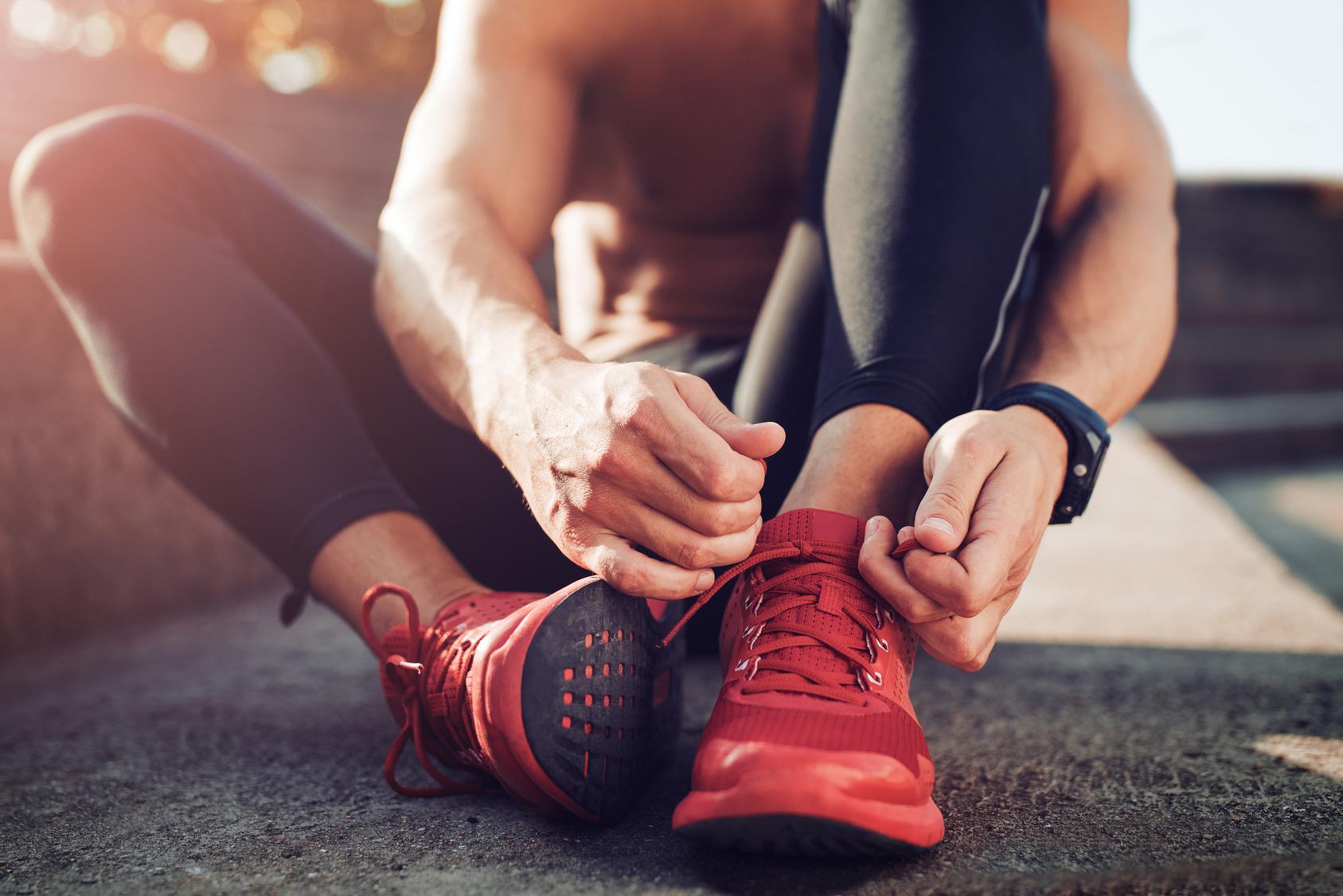 Laçage des chaussures de running