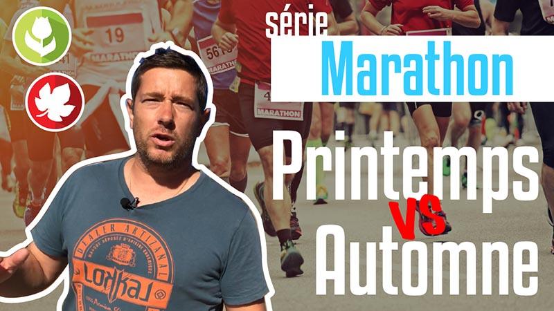 Choisir entre un marathon de printemps ou un marathon d'automne